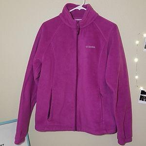 Columbia raspberry pink fleece zip-up